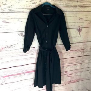 Theory full button up dress